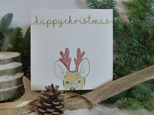 Christmas Card Chinese Water Deer