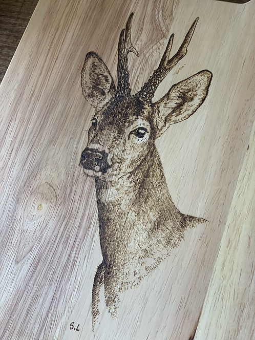 Board with Roe Buck Engraving