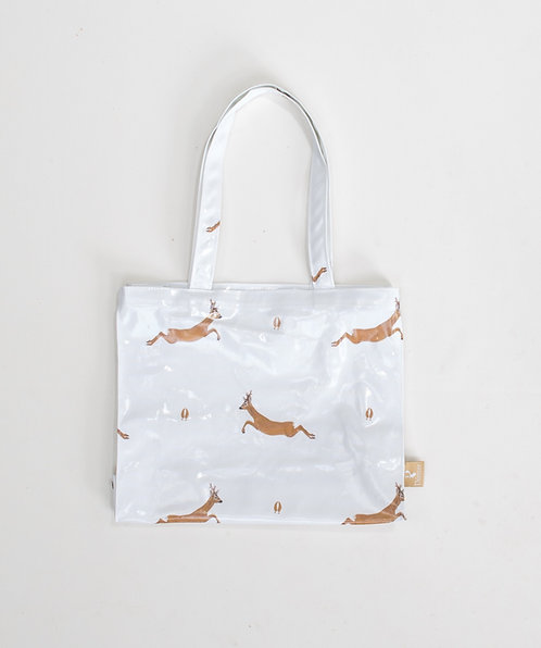 Jumping Roe Oilcloth Bag