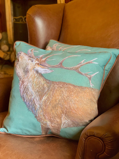 Roaring Stag Cushion