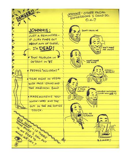 O.J. Simpson's Legal Pad page