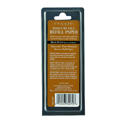 Pedicure File Refill Pads 80 grit black pads 50ct.