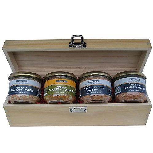 French Pâtés in Wooden Box