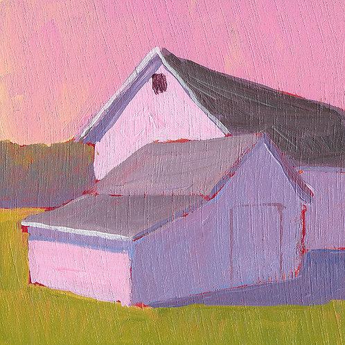 Pink Reflection, 4 x 4 x 3/16 Acrylic Wood Panel