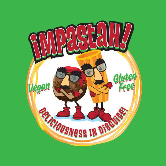 Impastah Food Truck Logo & Illustration