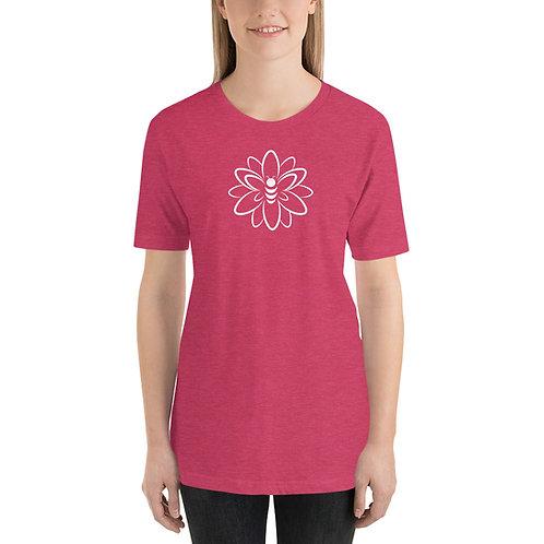 Graphic Bee & Flower Short-Sleeve Unisex T-Shirt
