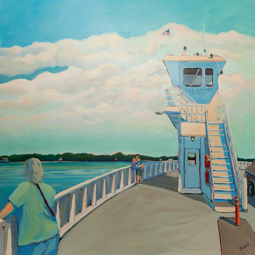 Passage From Shelter Island, 2011  36 x 36 x 2 Acrylic on Cradled Gesso Board