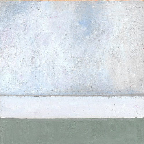 Sea Grass Mist, 6 x 6 x 7/8 Acrylic on Wood Cradle
