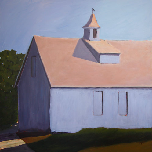 Periwinkle Barn, 2012  30 x 30 Acrylic on Cradled Gesso Board