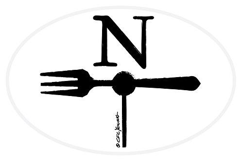 North Fork Oval Bumper Sticker