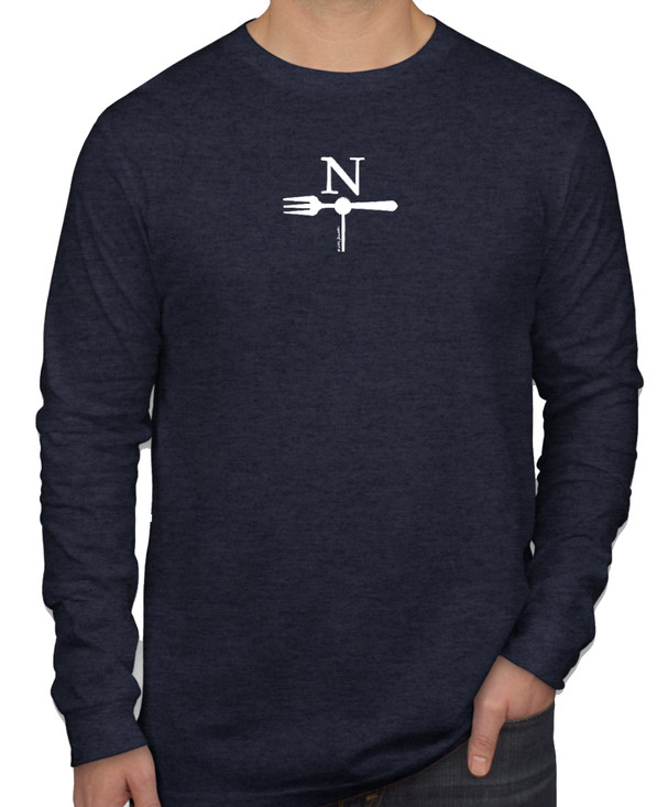 North Fork Long Sleeve T-shirt in Heather Navy