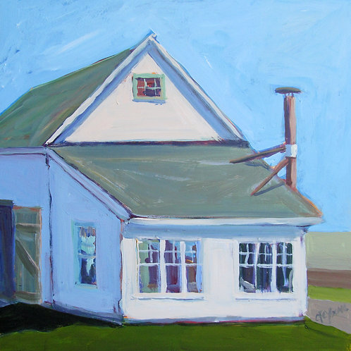 Northville Farm, 2011  12 x 12 x 2 Acrylic on Cradled Gesso Board