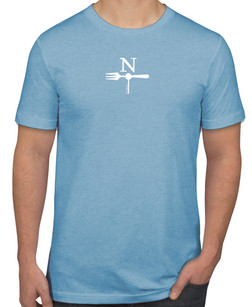 North Fork T-shirt in Heather Blue