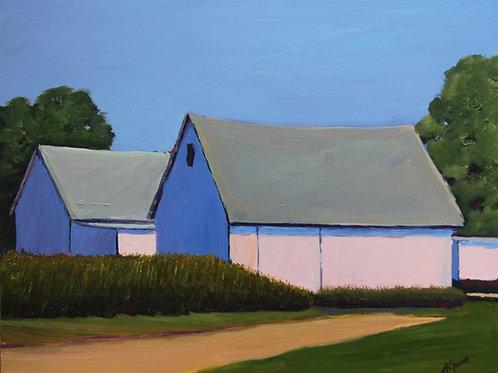 Among the Corn Fields, 2012  11 x 14 x 7/8 Acrylic on Cradled Gesso Board