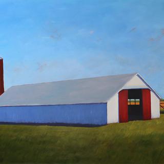 Kansas Hay Barn, 2021, 36 x 48 Acrylic