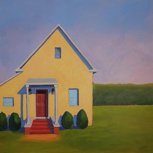 Orient Cottage, 2021, 30 x 30 x 2 Acrylic