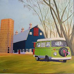 Barn&Wagon.16x16.2018.jpg