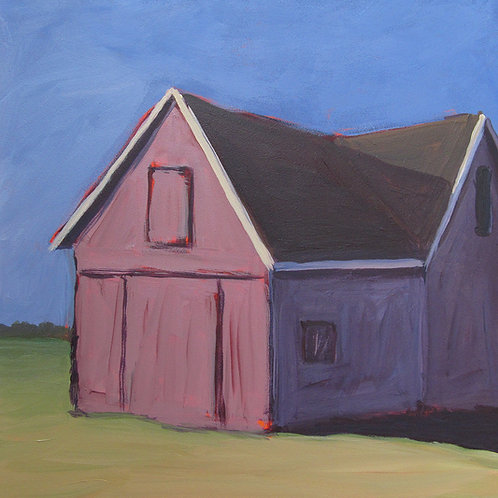 Barn with 2 Peaks, 2012  8 x 8 x 2 Acrylic on Cradled Gesso Board