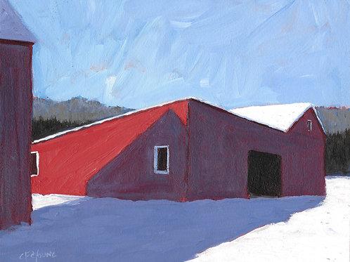 Winter's Shadow, 8 x 10 x 7/8 Acrylic on Wood Cradle