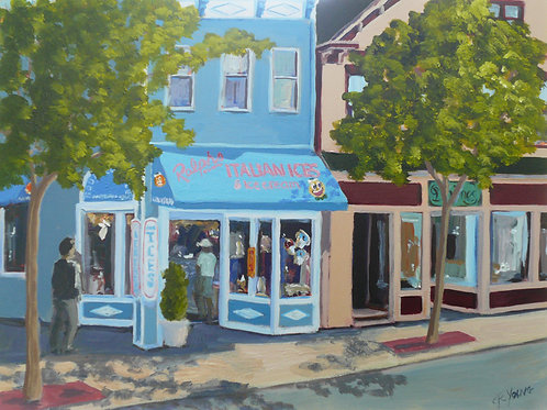 Ralph's Italian Ices, 2010  12 x 16 x 2 on Cradled Gesso Board