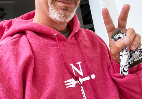 North Fork Hoodie in Heather Red