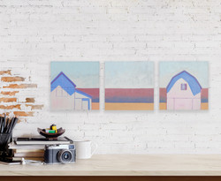 Bare & Bold Staged Interior Wall