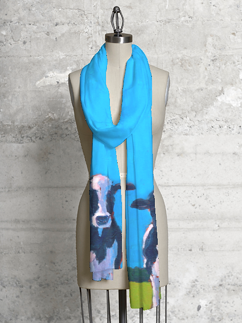 Cow Pals Modal Scarf