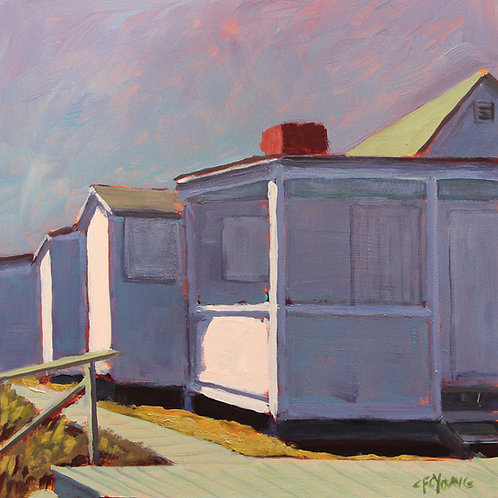 Cottage at Iron Pier II, 2015, 10 x 10 x 2 Acrylic