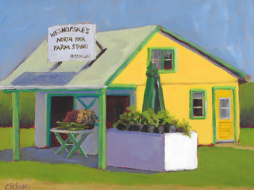 Wesnofske's Farm Stand, 8 x 10 x 7/8 Acrylic on Wood Cradle