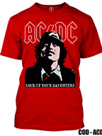 ACDC - LOCK UP YOUR DAUGHTER (REMERA ROJA)