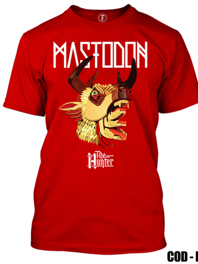 MASTODON - THE HUNTER, REMERA ROJA
