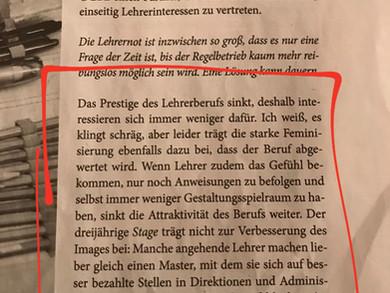Nein Herr Arendt, es klingt nicht schräg. Es klingt sexistisch.
