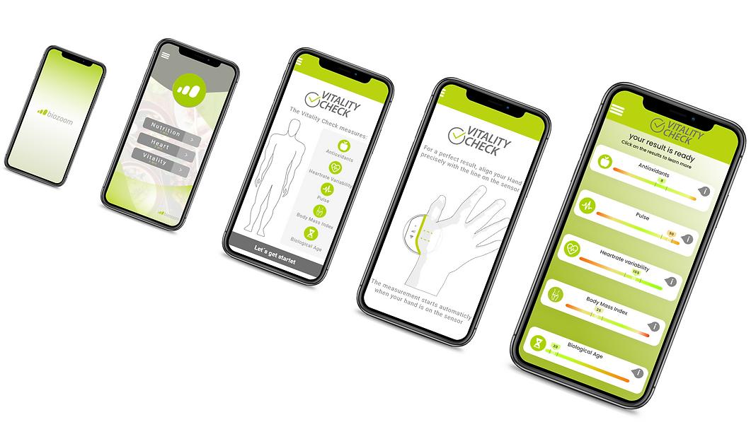 Mach jetzt den Vitality Check mit Biozoom Handscannern