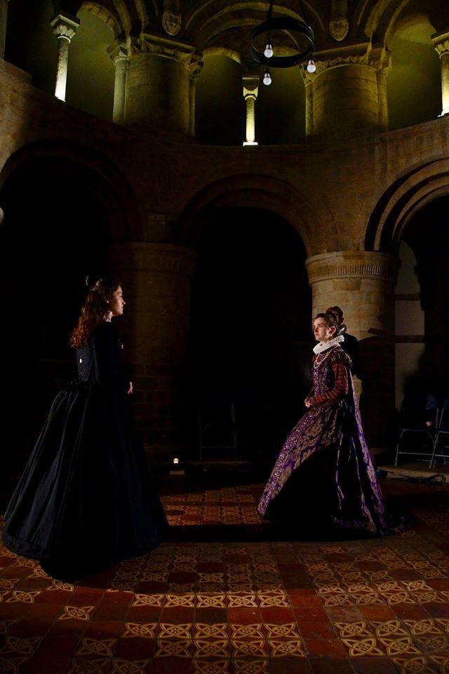 Flora Macangus as Mary; Vee Tames as Elizabeth