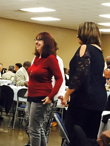 Banquet guests having fun
