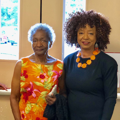 Christine Crawford and Shelia Ahmadi
