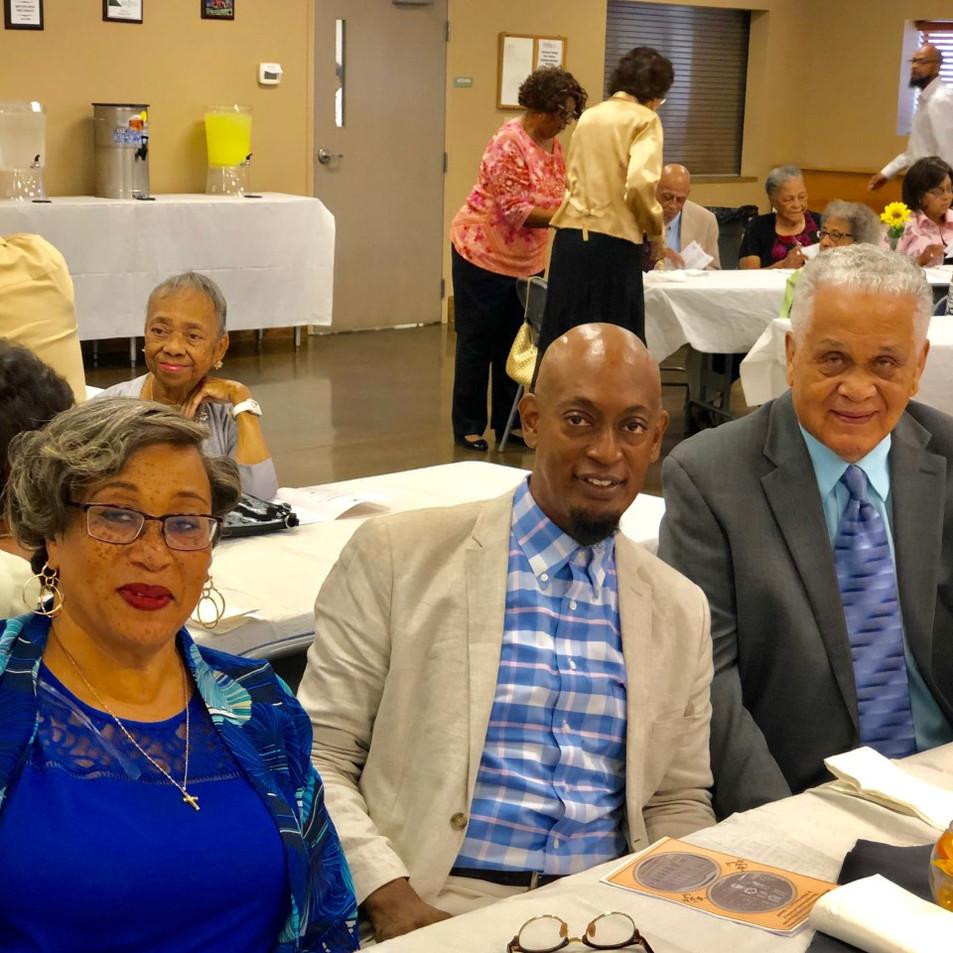 Mildred Williams, Frank Pendleton and James Becks