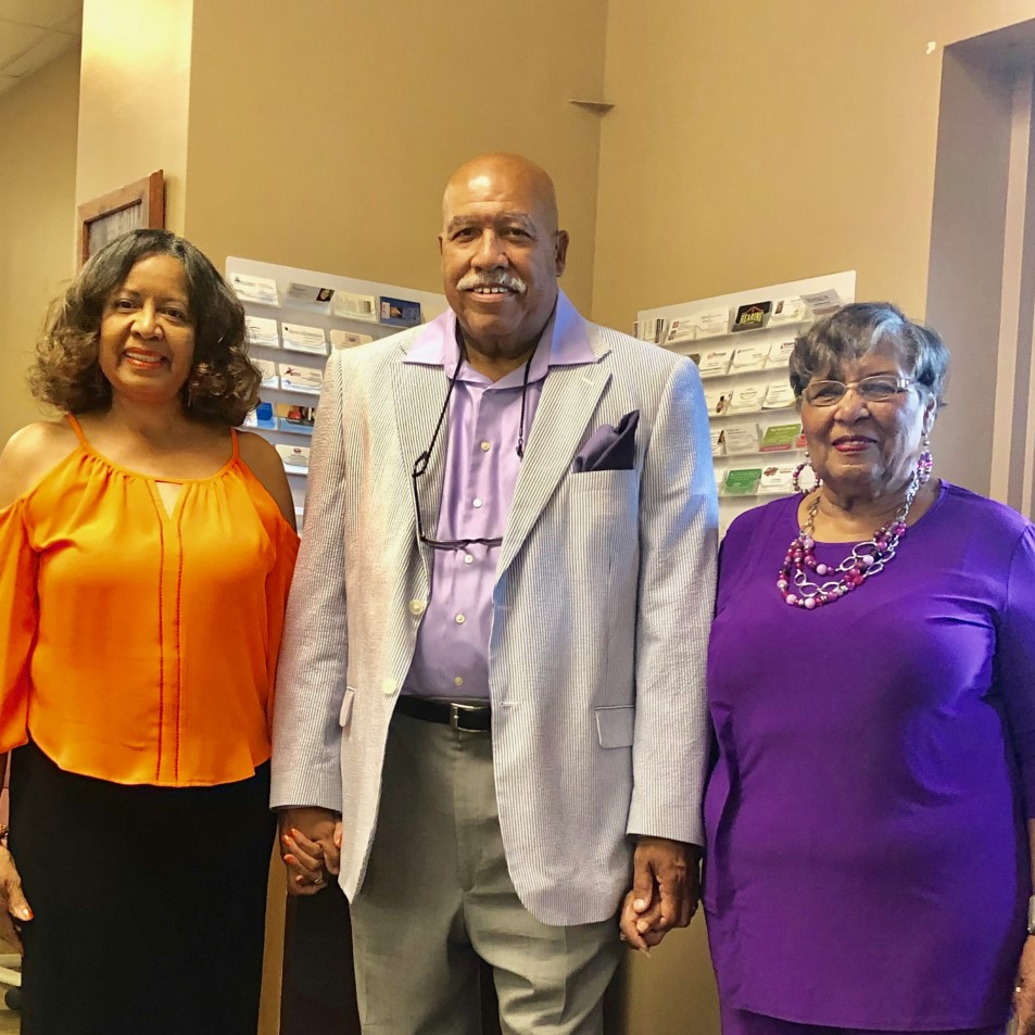 Bertie Pannell, Nelson Graves and Barbara Washington