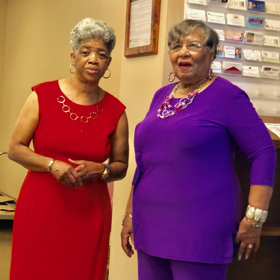 Toni Morgan and Barbara Washington