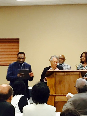 Mrs. Margurite Johnson & Pastor Floyd Miles Lifetime Hall of Fame Club; with Mr. Ernest Holley and Ms. Bertie Pannell