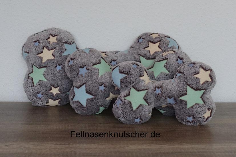 """Riesen Kuschelkissen """"Bone Starlight"""", 30, 40 oder 50 cm, Wellnessfleece"""