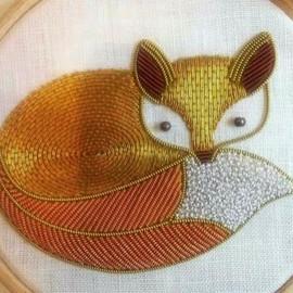 Gold work Fox