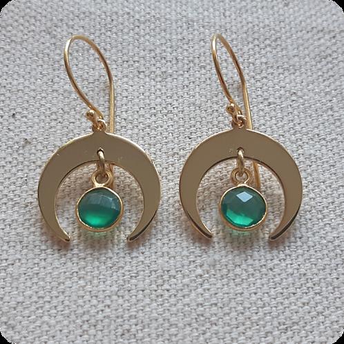 Green Onyx - Gold