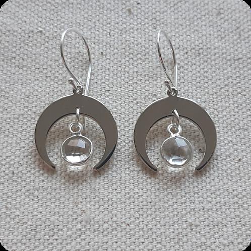 Clear Quartz - Silver