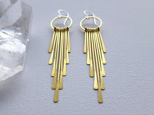 Brass Shag Earrings