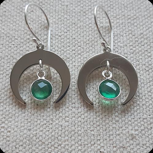 Green Onyx - Silver