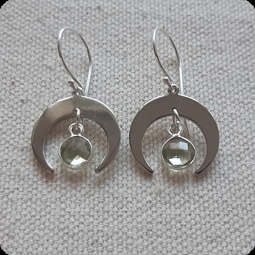 Prasiolite (Green Amethyst) - Silver