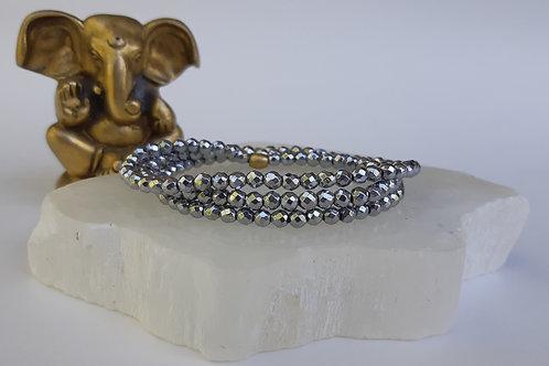 Hematite - Silver Wrap