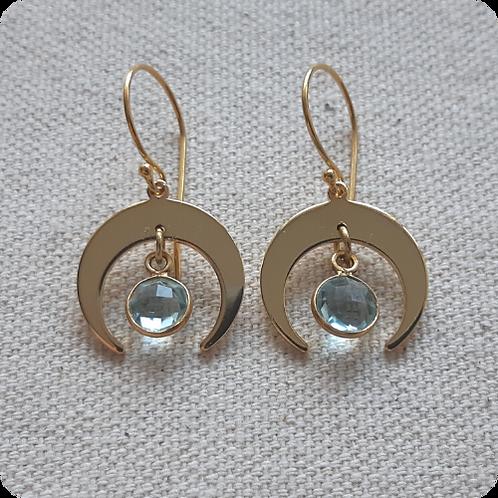 Aquamarine - Gold