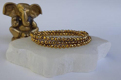 Hematite - Gold Wrap